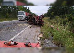 Acidente envolvendo Van que saiu da Bahia deixa dois mortos no Norte de Minas