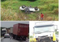 Três pessoas da mesma família morrem em acidente de carro na BR-101
